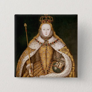 Queen Elizabeth I in Coronation Robes 15 Cm Square Badge