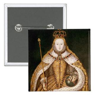 Queen Elizabeth I in Coronation Robes 15 Cm Square Badge