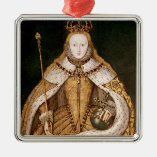 Queen Elizabeth I in Coronation Robes Christmas Ornament