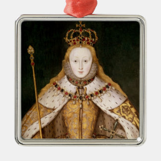 Queen Elizabeth I in Coronation Robes Christmas Ornament