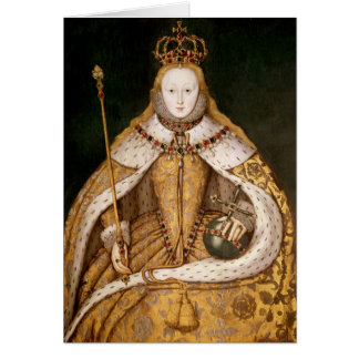 Queen Elizabeth I in Coronation Robes Greeting Card