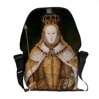 Queen Elizabeth I in Coronation Robes Messenger Bag