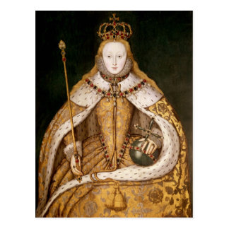 Queen Elizabeth I in Coronation Robes Postcard