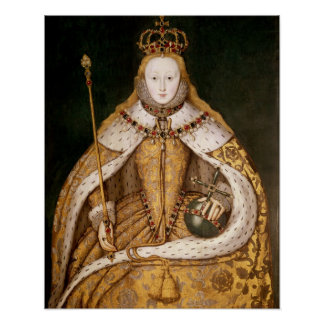 Queen Elizabeth I in Coronation Robes Poster