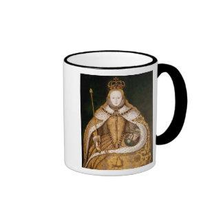 Queen Elizabeth I in Coronation Robes Ringer Mug
