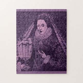Queen Elizabeth I in lavender Jigsaw Puzzle
