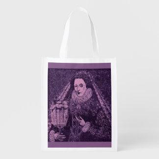 Queen Elizabeth I in lavender Reusable Grocery Bag