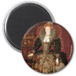 Queen Elizabeth I of England 6 Cm Round Magnet