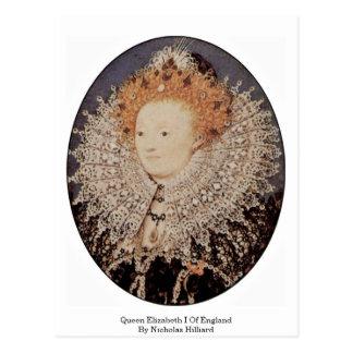 Queen Elizabeth I Of England By Nicholas Hilliard Postcard