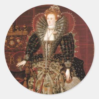 Queen Elizabeth I of England Classic Round Sticker