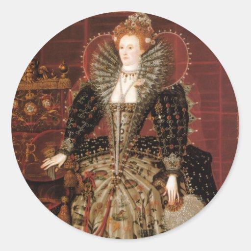 Queen Elizabeth I of England Round Stickers