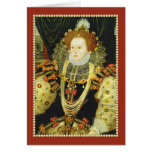 Queen Elizabeth I of England Wearing Pearls Greeting Card