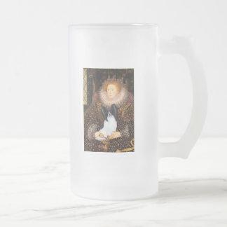 Queen Elizabeth I  - Papillon 1 Frosted Glass Mug