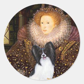 Queen Elizabeth I  - Papillon 1 Round Sticker