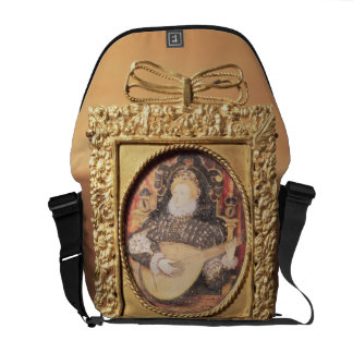 Queen Elizabeth I playing the lute (miniature incl Messenger Bags