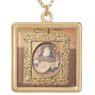 Queen Elizabeth I playing the lute (miniature incl Custom Necklace