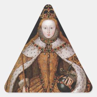 Queen Elizabeth I Triangle Stickers