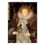 Queen Elizabeth I - Wheaten Terrier Greeting Card