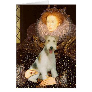 Queen Elizabeth I - Wire Fox Terrier #1 Greeting Card