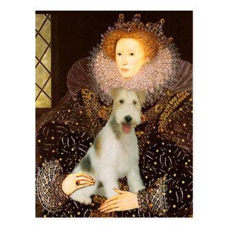 Queen Elizabeth I - Wire Fox Terrier #1 Postcards