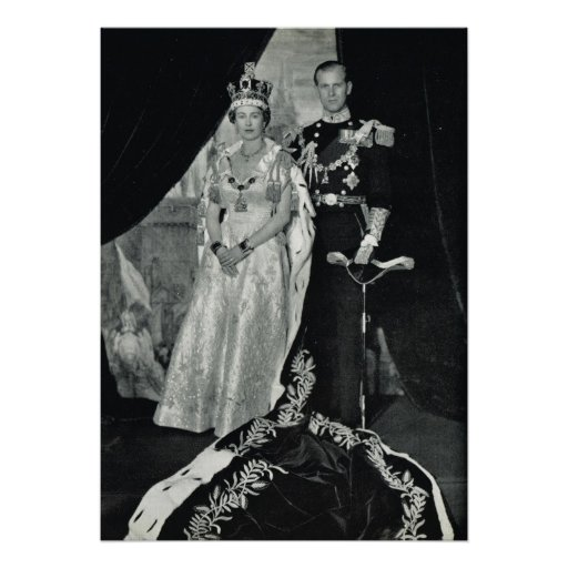 Queen Elizabeth II and Prince Philip Poster