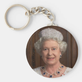 Queen Elizabeth II Basic Round Button Key Ring