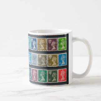 Queen Elizabeth II Definitive Stamps Basic White Mug