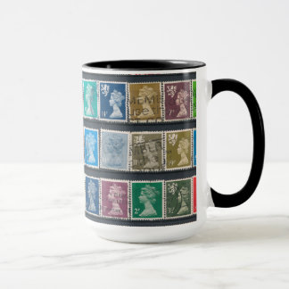 Queen Elizabeth II Definitive Stamps Mug