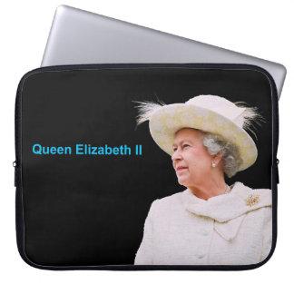 Queen Elizabeth II image Neoprene-Laptop-Sleeve Laptop Sleeve