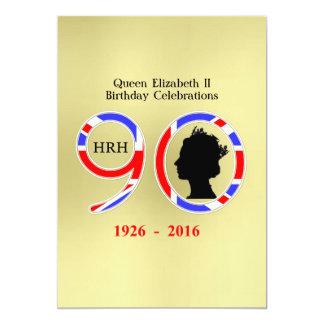 Queen Elizabeth II Of England 90th Birthday 13 Cm X 18 Cm Invitation Card