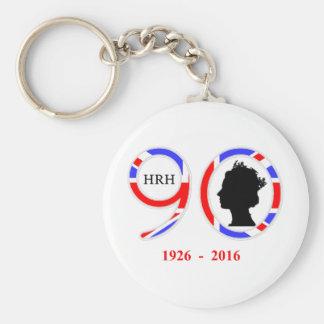 Queen Elizabeth II Of England 90th Birthday Basic Round Button Key Ring