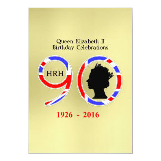 Queen Elizabeth II Of England 90th Birthday Card