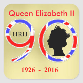Queen Elizabeth II Of England 90th Birthday Square Sticker
