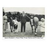 Queen Elizabeth II,  Prince Philip, Charles, Anne Postcard