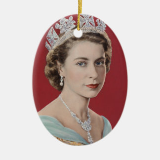 Queen Elizabeth II Queen of the United Kingdom Ceramic Oval Decoration