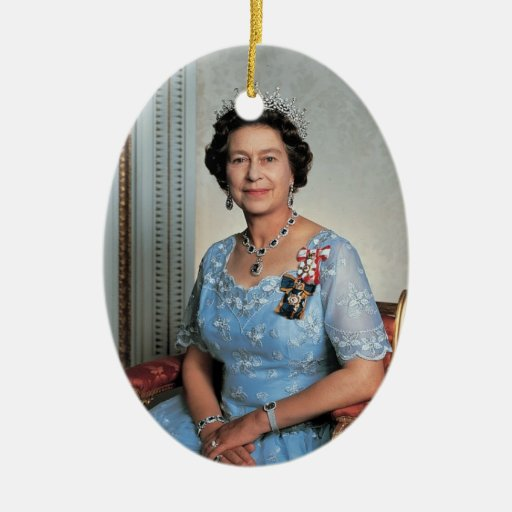 Queen Elizabeth II Queen of the United Kingdom Christmas Ornaments