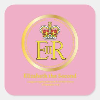 Queen Elizabeth II Reign Square Sticker