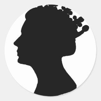 Queen Elizabeth II Round Sticker