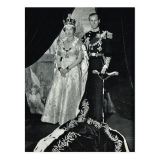 Queen Elizabeth II with Prince Philip Post Card
