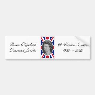 Queen Elizabeth Jubilee Portrait Bumper Sticker