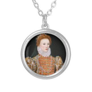 Queen Elizabeth - Necklance Silver Plated Necklace