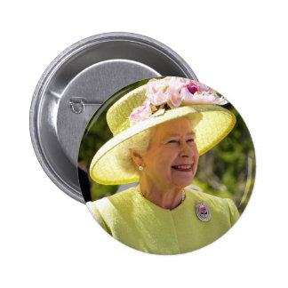 Queen Elizabeth of England 6 Cm Round Badge