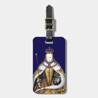 Queen Elizabeth of England Coronation Blue Luggage Tag