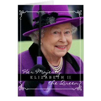 Queen Elizabeth of England Greeting Card