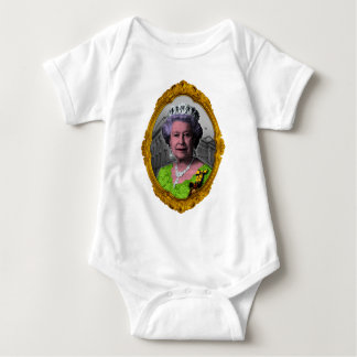 Queen Elizabeth Portrait in Frame Baby Bodysuit