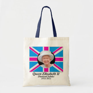 Queen Elizabeth portrait jubilee uk flag bag