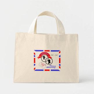 Queen Elizabeth Prince Philip 70th Anniversary Mini Tote Bag