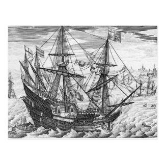 Queen Elizabeth s Galleon Post Card