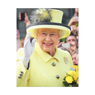 Queen Elizabeth Second Canvas Print