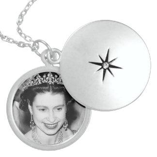 Queen Elizabeth Sterling Silver Round Locket